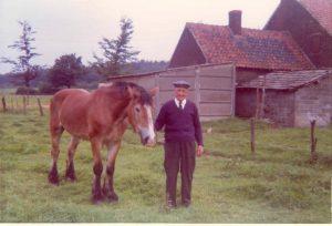 Louis Camps en zijn terkpaard 'Net' in 1969