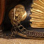 detail sjako in het museum Slag der Zilveren Helmen, Halen
