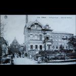anno 1900, de maalderij H. Peeters-Ooms bevond zich achter het herenhuis