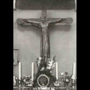 Het kruisbeeld in de kapel