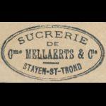 stempel Sucrerie Mellaerts, rond 1900