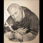 Alphonsus  van Liguori, onbekende kunstenaar, Napels 18de eeuw, ets