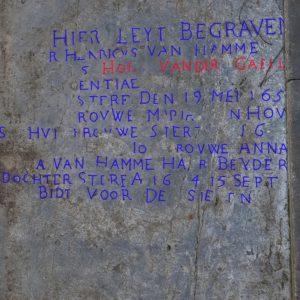 Grafsteen familie Henricus Van Hamme