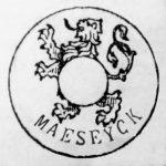 model A volgens MB 17/7/1896, de naam Maeseyck werd toegevoegd ter illustratie