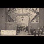 Hoofdingang langs de Rue Delaunoy, postkaart, eerste kwart 20ste eeuw